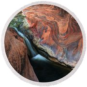Splendor On Quail Creek Round Beach Towel