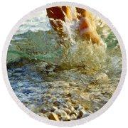 Splish Splash Round Beach Towel by Heiko Koehrer-Wagner