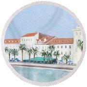 Split Croatia Adriatic Coast Round Beach Towel
