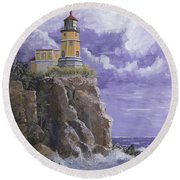 Split Rock Magic Round Beach Towel
