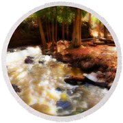 Split Rock River Round Beach Towel