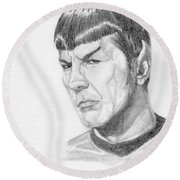 Spock Round Beach Towel