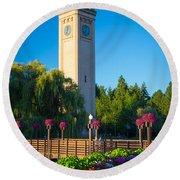 Spokane Clocktower Round Beach Towel