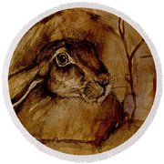 Spooked Hare Round Beach Towel