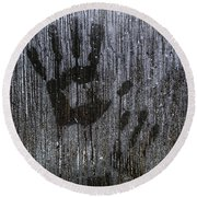 Spooky Window Round Beach Towel
