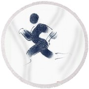 Sport A 1 Round Beach Towel by Theo Danella