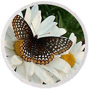 Spotted Butterfly Round Beach Towel