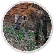Spotted Hyena Round Beach Towel