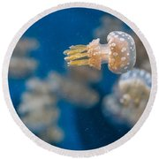 Spotted Jelly Aliens 1 Round Beach Towel