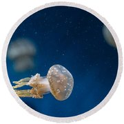 Spotted Jelly Aliens 2 Round Beach Towel