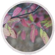 Spotted Leaves Round Beach Towel