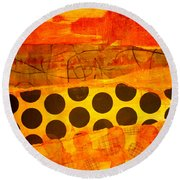 Spotted Sunset Round Beach Towel