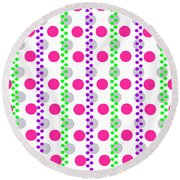 Spotty Stripe Round Beach Towel
