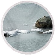 Sprague In Lake Rocky Mountain National Park Round Beach Towel