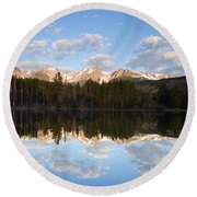 Sprague Lake 2 Round Beach Towel