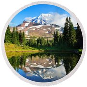 Spray Park Tarn Round Beach Towel