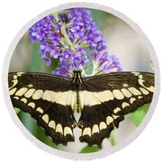 Spread Your Wings My Little Butterfly  Round Beach Towel