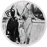 Sprinchorn Women, 1914 Round Beach Towel