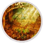 Spring - A Sign Of Spring Round Beach Towel