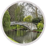 Spring And The River Cam Round Beach Towel
