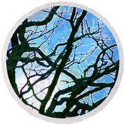 Spring Approaches Round Beach Towel