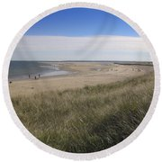 Spring At Crane Beach Round Beach Towel