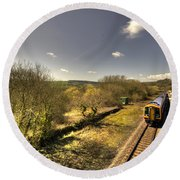 Spring At Seaton Junction  Round Beach Towel