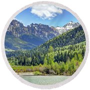 Spring At Silver Jack Round Beach Towel