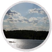 Spring At Smith Mountain Lake Round Beach Towel