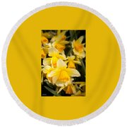 Spring Blooms 6739 Round Beach Towel