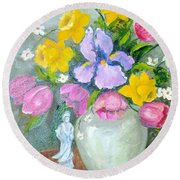 Spring Blooms  Round Beach Towel