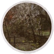 Spring Blossoms Round Beach Towel by Henry Muhrmann