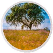 Spring Breeze Round Beach Towel