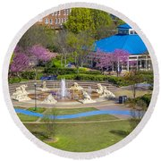 Spring Coolidge Park 2 Round Beach Towel
