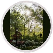 Spring Day In The Park Round Beach Towel