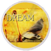 Spring Dreams Round Beach Towel