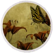 Spring Fever Round Beach Towel by Diane Schuster