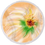 Spring Flower Round Beach Towel