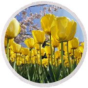 Spring Flowers 10 Round Beach Towel