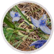 Spring Flowers 2 Round Beach Towel