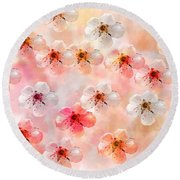 Spring Flowers Abstract 5 Round Beach Towel