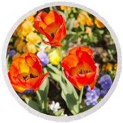 Spring Flowers No. 3 Round Beach Towel