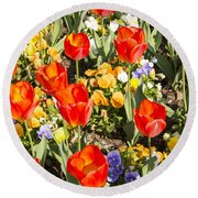 Spring Flowers No. 5 Round Beach Towel