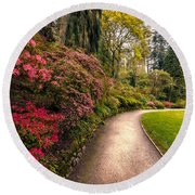 Spring Footpath Round Beach Towel