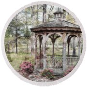 Spring Gazebo Painteffect Round Beach Towel