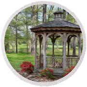 Spring Gazebo Pastel Effect Round Beach Towel