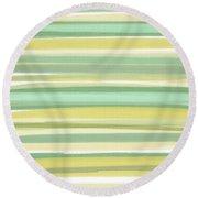 Spring Green Round Beach Towel
