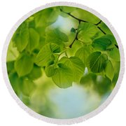 Spring Green Round Beach Towel