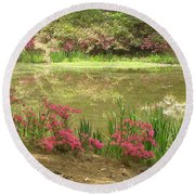 Spring Impression Round Beach Towel