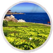 Spring In Pacific Grove Ca Round Beach Towel
